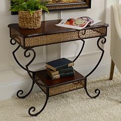 Mahogany Two-Tier Console Table