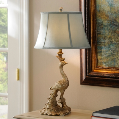 Resin Peacock Table Lamp