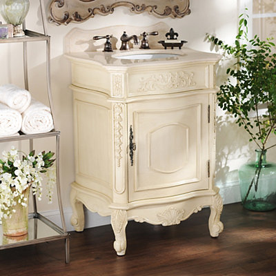 Ivory Sinclair Vanity Sink, 26in.