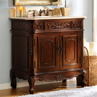 Mahogany Sinclair Vanity Sink, 36in.