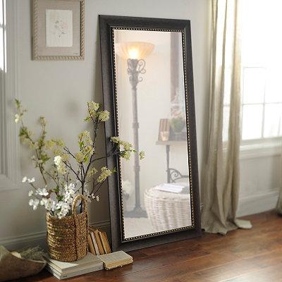 Dark Bronze Framed Mirror, 32x66