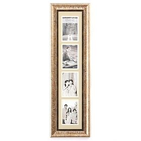 Champagne & Tan Collage Photo Frame