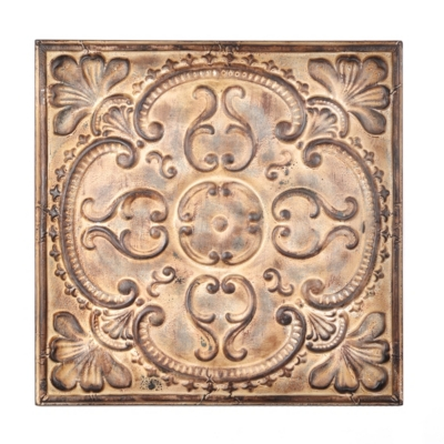 Victorian Metal Tile Plaque