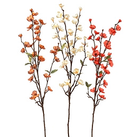 Metallic Apple Blossom Stem, 32 in.