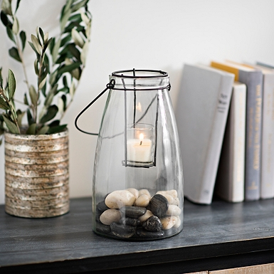 clear glass lantern - Decorations Home