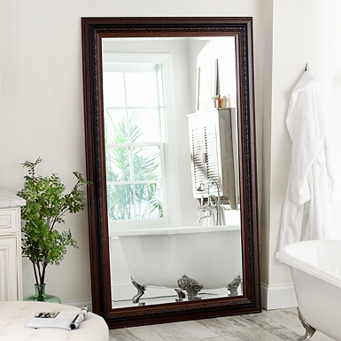 mahogany framed mirror 46x76 in