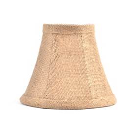 Tan Burlap Chandelier Shade
