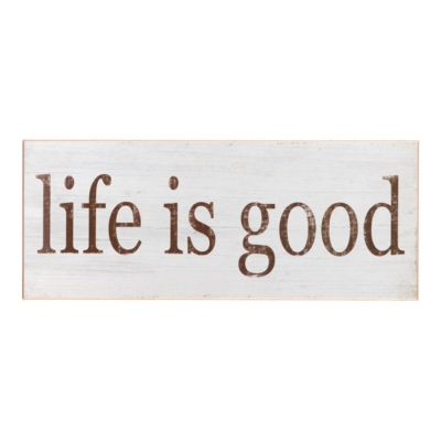 Wood Life Is Good Art Plaque