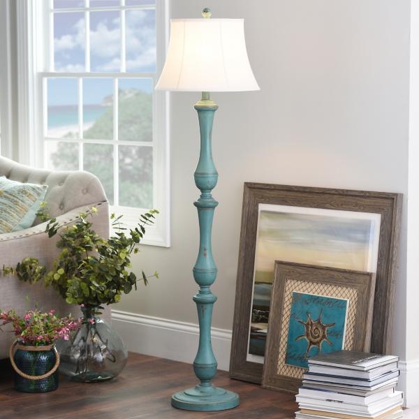 Turquoise Hadley Floor Lamp | Kirklands:,Lighting