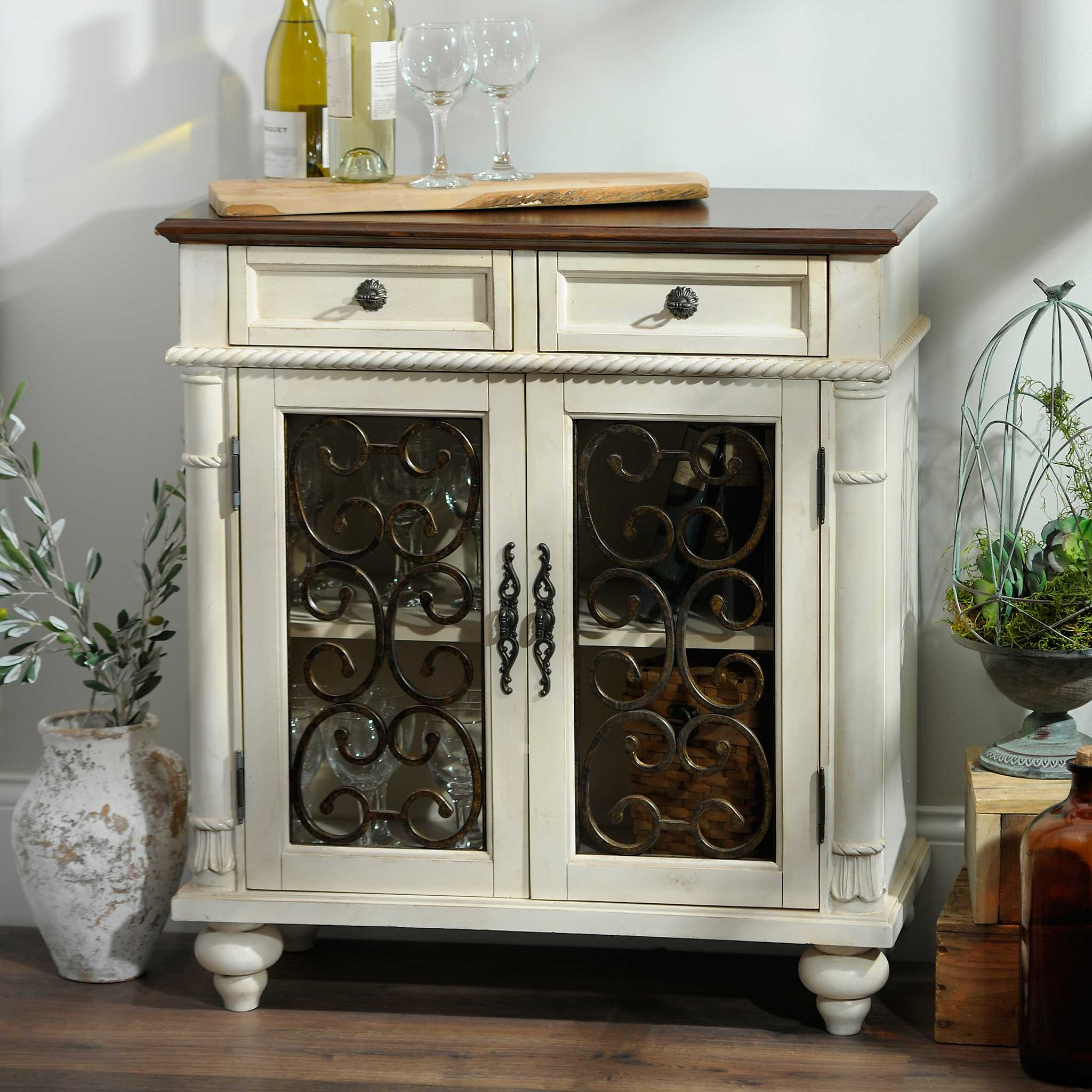 Ivory Wood Brixworth Cabinet Kirklands