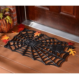 Black Spider Doormat