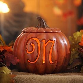 Pre-Lit Monogram M Pumpkin
