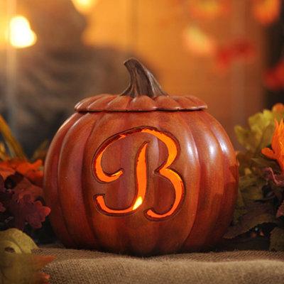 Pre-Lit Monogram B Pumpkin