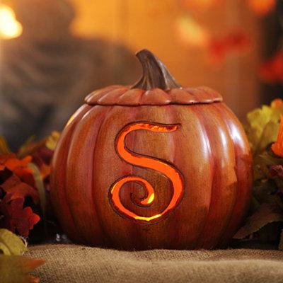 Pre-Lit Monogram S Pumpkin