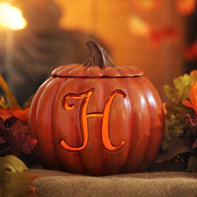 Pre-Lit Monogram H Pumpkin