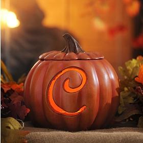 Pre-Lit Monogram C Pumpkin