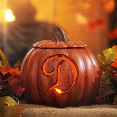 Pre-Lit Monogram D Pumpkin