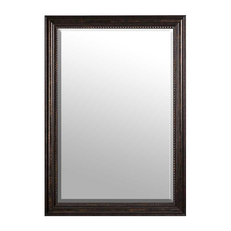 Dark bronze framed mirror 30x42 in kirklands for Decorative mirrors for less