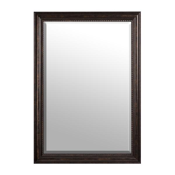 Dark Bronze Framed Mirror, 30x42 In.