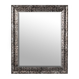 Black Mosaic Mirror, 28x34