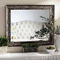 28x34 inch Black Mosaic Framed Mirror
