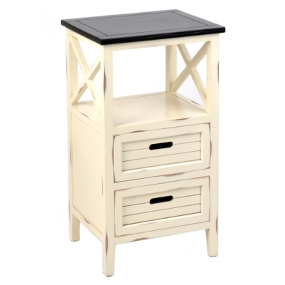Wood Cream Side Table