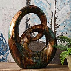 Turquoise Swirl Ceramic Statue