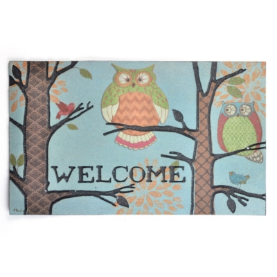 Rubber Owl Welcome Doormat