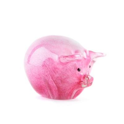 Pig Art Glass Statue