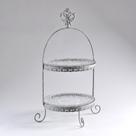 Metal 2-Tier Savannah Plate Stand