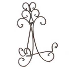 Rusty Bronze Scroll Easel