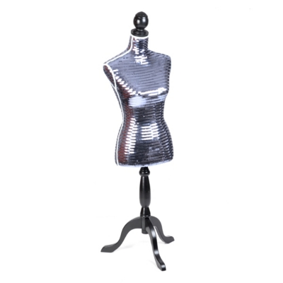 Silver Sequin Dress Form