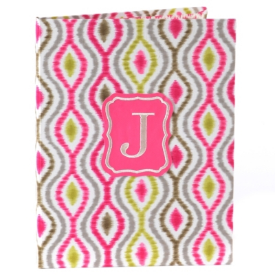 Hot Pink Monogram J Notebook