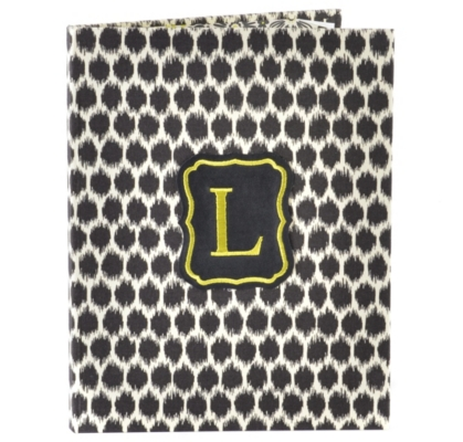 Black Monogram L Notebook