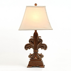 Fleur-de-lis Bronze Table Lamp