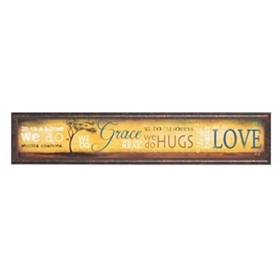 Grace & Love Framed Art Print