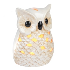 Ceramic Cream Owl Night Light