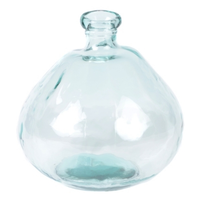 Clear Recycled Glass Vase
