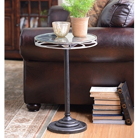 Metal Movie Reel Side Table
