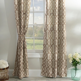 Taupe Grommet Gatehill Curtain Panel, Set of 2