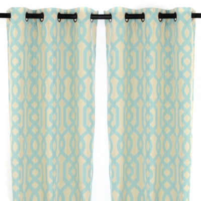 Teal Grommet Gatehill Curtain Panel, Set of 2