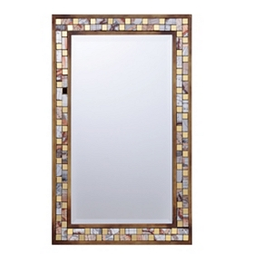 Metal Mosaic Mirror, 16x24