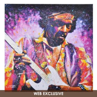 Jimi Hendrix Watchtower Canvas Art Print