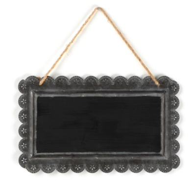 Tin Blackboard Plaque