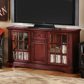 Wood Cherry 3-Door Media Cabinet
