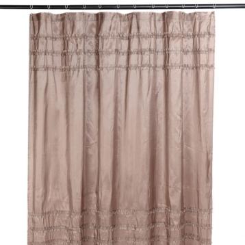 Taupe Ruffle Shower Curtain