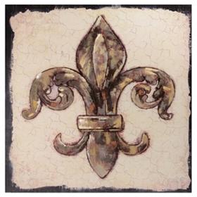 Gold Mosaic Fleur-de-Lis Canvas Art Print