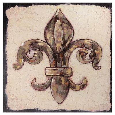 Kirklands Gold Fleur De Lis Canvas Art Print Questions