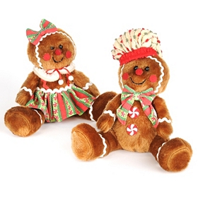 Stuffed Gingerbread Boy & Girl