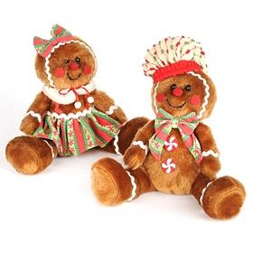 Stuffed Gingerbread Boy & Girl
